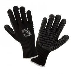 Rękawice antywibracyjne 10 czarne LahtiPro PROFIX L290110K