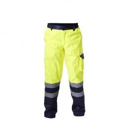Spodnie ostrzegawcze żółte rozmiar XXL LahtiPro PROFIX L4100405