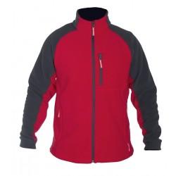 Bluza polarowa 290g/m2 szaro-czerwona rozmiar XXL LahtiPro PROFIX LPBP12XL