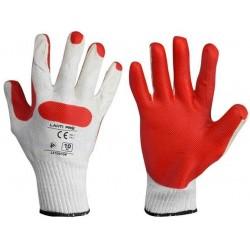 Rękawice lateksowe czerwono-białe rozmiar 10 LahtiPro PROFIX L210910K