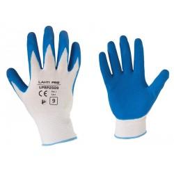Rękawice ochronne powlekane lateksem 1 para rozmiar L (9) LahtiPro PROFIX L210509W