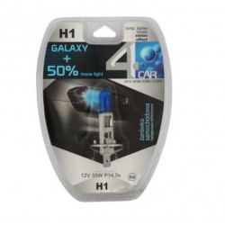 Żarówka samochodowa H1 BLUE GALAXY+50% 4car