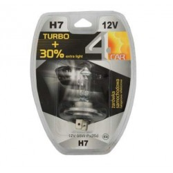Żarówka samochodowa H7 12V TURBO+30% 4car