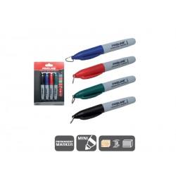 Markery permanentne MINI 4 sztuki (czarny, niebieski, czerwony, zielony) PROFIX 38041