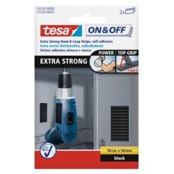 Rzep montażowy STRONG 10x5cm czarny Tesa PROFIX H5522800