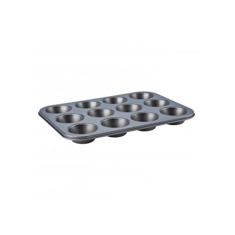 Forma nieprzywieralna do muffinek Silver 35x26.5x3cm Galicja 3925