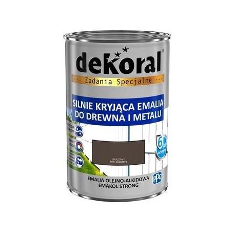 DEKORAL EMAKOL STRONG brąz 0,9L
