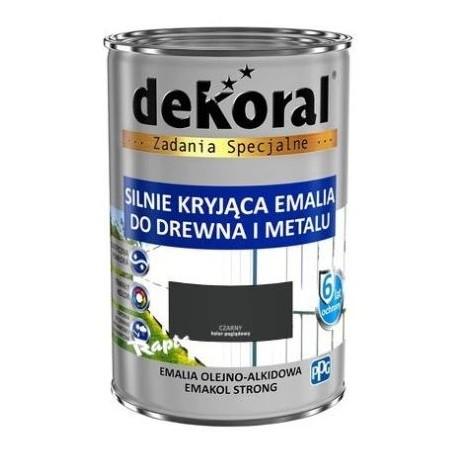 DEKORAL EMAKOL STRONG czarny 0,9L