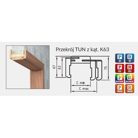 Tunel regulowany z kątownikiem K63, N63, T80, T63 DRE