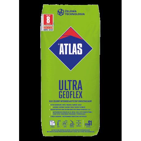 ATLAS GEOFLEX ULTRA,FOLIA 25KG KLEJ ŻELO WY, WYSOKOELASTYCZNY, ODKSZTAŁCALNY 2-15 mm