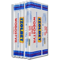 STYROPIAN FUNDAMENTOWY WODOSTYR SUPER IZOLBET EPS 150 / 0,034 / 4,5t