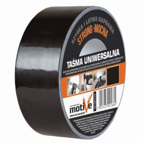 INTER-S TAŚMA UNIWERSALNA 48mm/50m czarn -melt) MOTIVE CZARNA