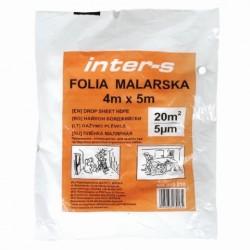 FOLIA MALARSKA OCHRONNA 4 x 5 m INTER-S