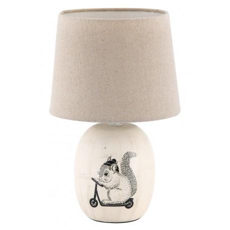 RABALUX 4604 Lampka stołowa Dorka E14/1x 40W kremowa