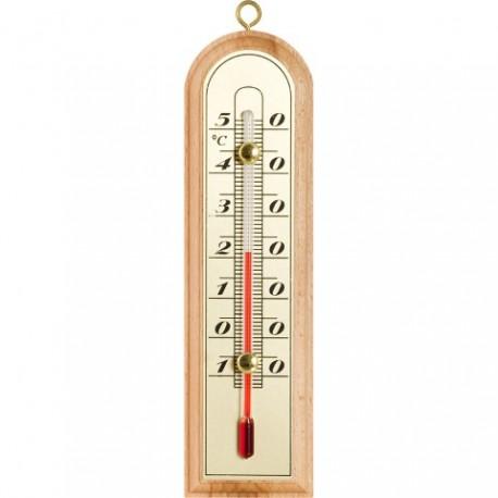 BROWIN Termometr wewnętrzny drewniany zł ota skala 150mm x 43mm łuk