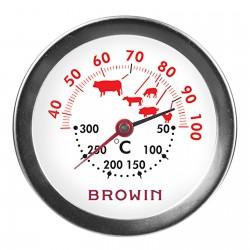 TERMOMETR DO PIECZENIA I PIEKARNIKA PODWÓJNA SKALA +40+100°C / +50+300°C BROWIN