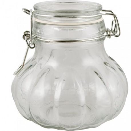 BROWIN Słój 0,35 L (cebulka) z szklanym zamknięciem hermetycznym