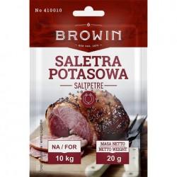 SALETRA POTASOWA DO PEKLOWANIA MIĘSA 20G NA 10 KG BROWIN