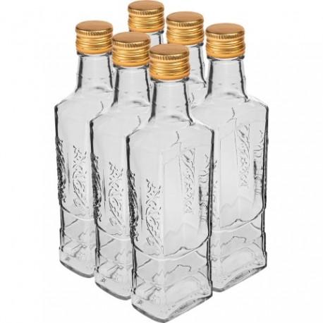 BROWIN Butelka Flora 250 ml z zakrętką 6 szt.