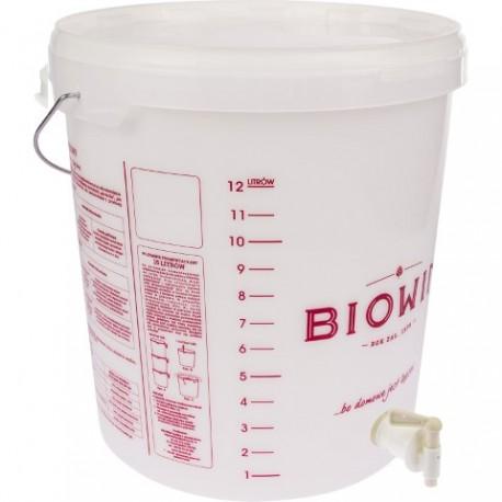BROWIN Pojemnik fermentacyjny 15L z nadr +kran +pokrywka