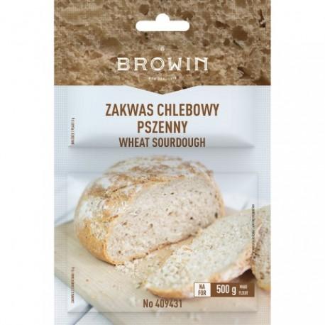 BROWIN Zakwas chlebowy pszenny z drożdża mi - 23g