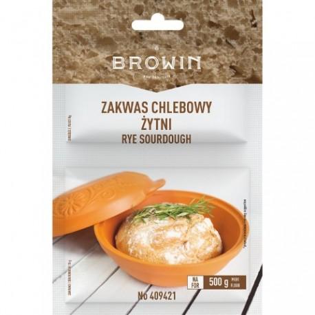 BROWIN Zakwas chlebowy żytni z drożdżami i słodem - 23g