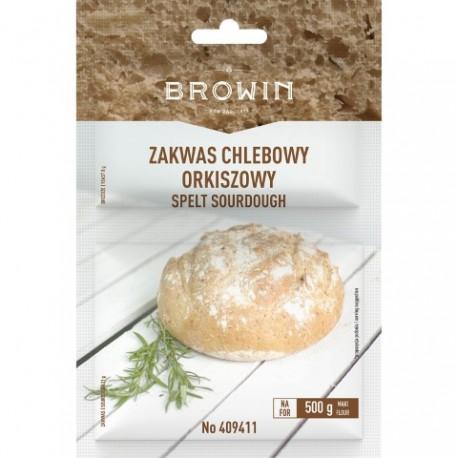 BROWIN Zakwas chlebowy orkiszowy z drożd żami - 19g