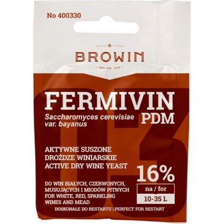BROWIN Aktywne, suszone drożdże winiarsk ie do win mocnych i musujących FERMIVIN PDM (bez namnażania)