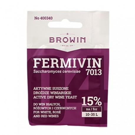 BROWIN Aktywne, suszone drożdże winiarsk ie do win białych i czerwonych FERMIVIN (bez namnażania)