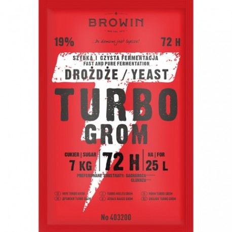BROWIN Drożdże gorzel.TURBO GROM 72h 120 g.