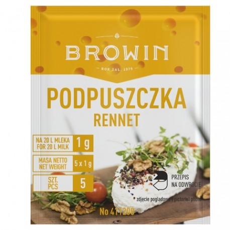 BROWIN Podpuszczka do serów – 5x1g