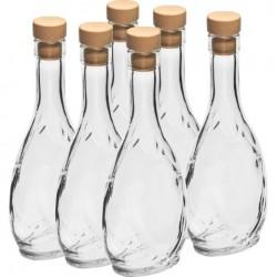 BROWIN Butelka Herbowa 250ml biała korek synt.-6szt