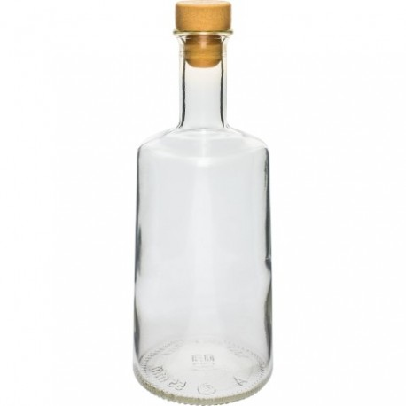 BROWIN Butelka 500ml Rosa-korek,biała