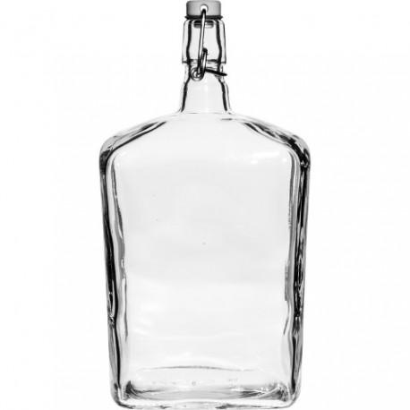 BROWIN Butelka Zapazucha-biała z zamk.he rmet.1,7L