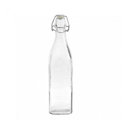 BROWIN Butelka 0,5 L z hermetycznym zamk nięciem - kwadratowa