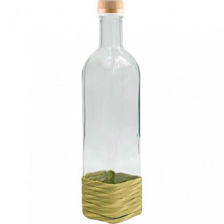 BROWIN butelka Marasca w oplocie ze sznu rka z trawy pojemność 0,5 Lt