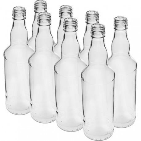 BROWIN Butelka na wódkę 0,5l - 8szt.