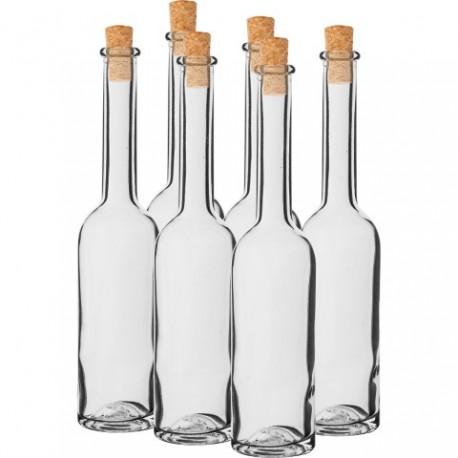BROWIN Butelka na nalewkę 0,2L 6 szt.+ k orki