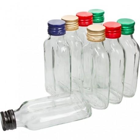 BROWIN Butelka na nalewki piersiówka z z akrętkami 100 ml 8 szt.
