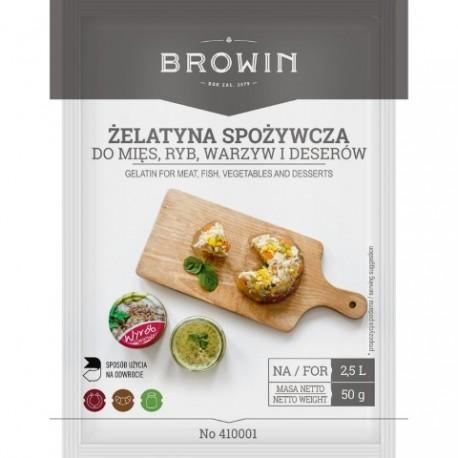 BROWIN Żelatyna spożywcza – 50g
