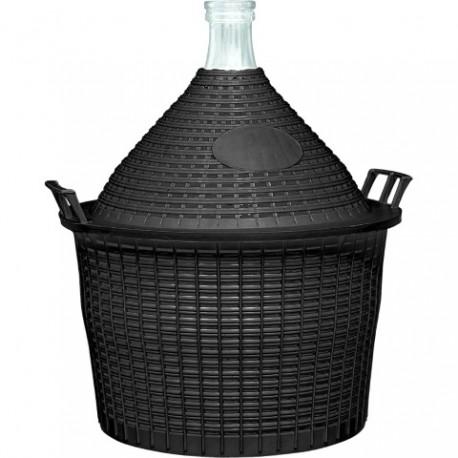 BROWIN Balon do wina 15l w koszu plast. z wąską szyjką ?57/40 mm