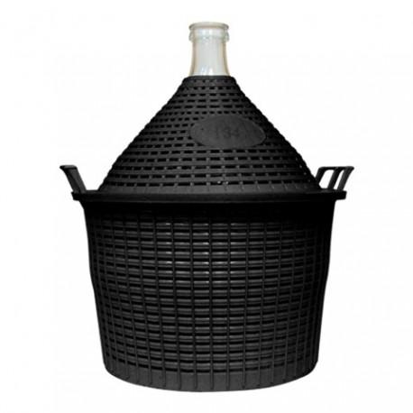 BROWIN Balon do wina 34l w koszu plast. z wąską szyjką ?57/40 mm
