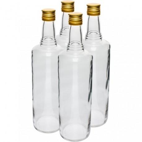 BROWIN Butelka 700ml Italiano-zakrętka, biała-4szt