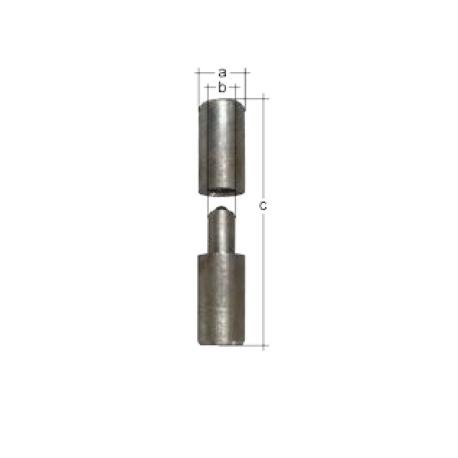Rolka do spawania 2 części stal 35/120 mm GAH