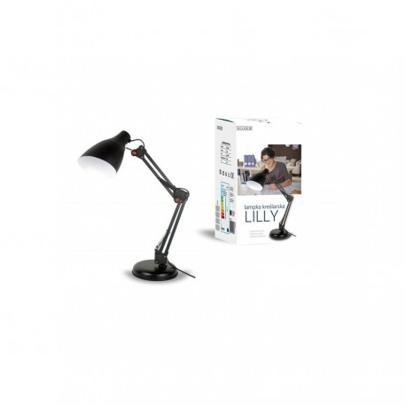 NILSEN Lampka biurkowa E27 LILLY czarna FN018