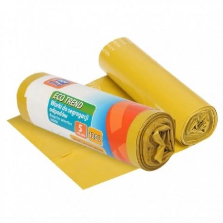 RAVI Worki Eco Trend 120L, 5 szt. plasti k (żółte)