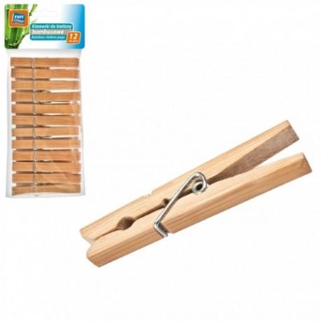 RAVI Klamerki do bielizny bambusowe 12sz t