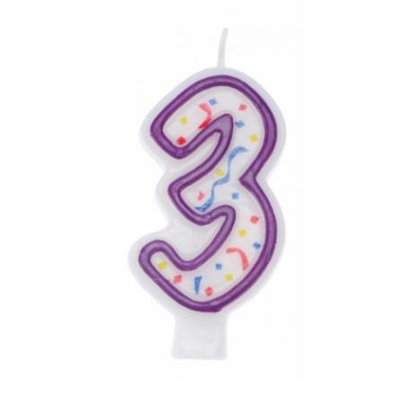 RAVI Świeczka urodzinowa Cyferka 3 IMPRE ZKA
