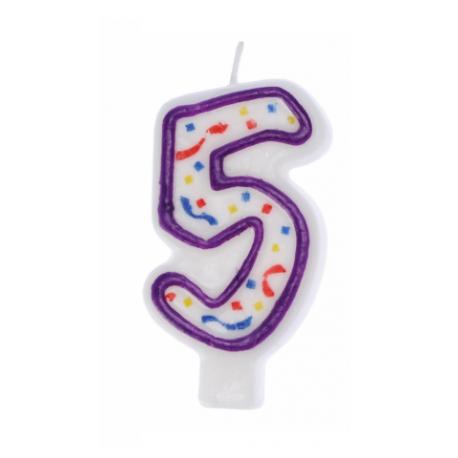 RAVI Świeczka urodzinowa Cyferka 5 IMPRE ZKA