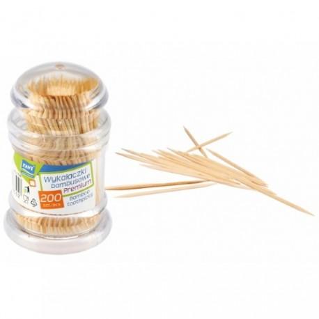RAVI NJ Wykałaczki Bambusowe PREMIUM 200 szt